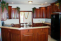 Custom Home Building Model Home Kitchen