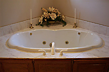 Custom Home Building Model Home Tub